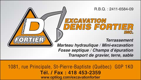 Excavation Denis Fortier